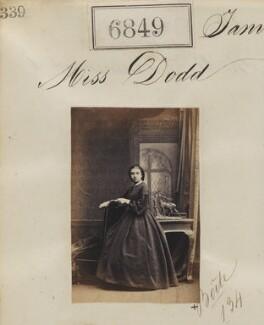 Miss Dodd, by Camille Silvy - NPG Ax56772