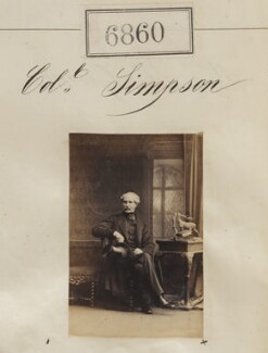 Colonel Simpson, by Camille Silvy - NPG Ax56783