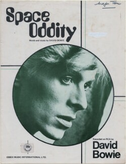 Sheet music cover for 'Space Oddity' by David Bowie, published by Essex Music Ltd, after  Unknown photographer - NPG D48362