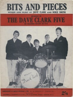 Sheet music cover for 'Bits and Pieces' by The Dave Clark Five (Rick Huxley; Denis Payton; Mike Smith; Lenny Davidson; Dave Clark), published by Ardmore & Beechwood Ltd, after  Unknown photographer - NPG D48366