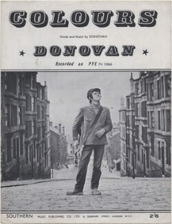Sheet music cover for 'Colours' by Donovan, published by Southern Music Publishing Company, after  Unknown photographer - NPG D48385