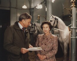 Sir David Attenborough; Queen Elizabeth II, by Joan Williams - NPG x200326