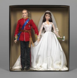 'Barbie William and Catherine Royal Wedding' (Prince William, Duke of Cambridge; Catherine, Duchess of Cambridge), by Robert Best, for  Mattel Inc - NPG D48051