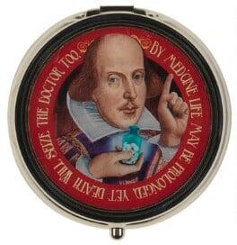 William Shakespeare ('Shakespeare Pill Box'), by Unknown artist - NPG D48053