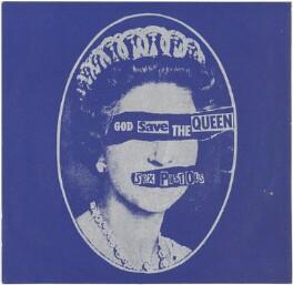 Queen Elizabeth II ('God Save the Queen'), by Jamie Reid, after  Peter Grugeon, for  The Sex Pistols - NPG D48055