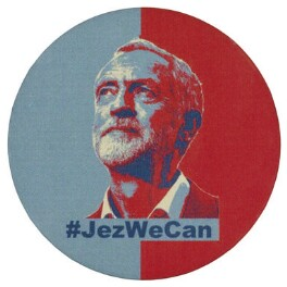 Jeremy Corbyn ('#JezWeCan'), by Unknown artist - NPG D48056