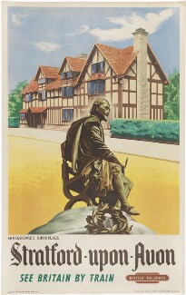 William Shakespeare ('Shakespeare's Birthplace Stratford Upon Avon'), by Unknown artist, for  British Railways - NPG D48065