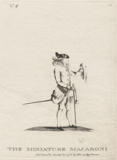 Richard Cosway ('The Miniature Macaroni'), published by Mary Darly - NPG D48069