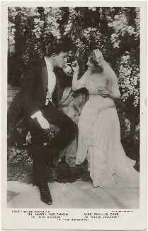 Harry Welchman as 'Jack Meadows' and Phyllis Dare as 'Eileen Cavanagh' in 'The Arcadians', by Foulsham & Banfield, published by  Rotary Photographic Co Ltd - NPG x201039