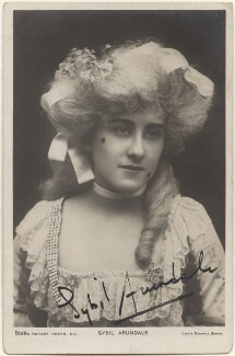 Sybil Arundale (née Rosa Maria Kelly), by Lizzie Caswall Smith, published by  Rotary Photographic Co Ltd - NPG x200386