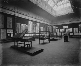Interior of the fifth Arts and Crafts Society Exhibition at the New Gallery (West Gallery), by Sir Emery Walker - NPG x200686
