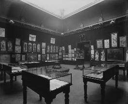 Interior of the fifth Arts and Crafts Society Exhibition at the New Gallery (South Gallery), by Sir Emery Walker - NPG x200688