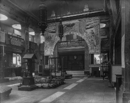 Interior of the fifth Arts and Crafts Society Exhibition at the New Gallery (Central Hall), by Sir Emery Walker - NPG x200690