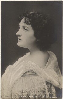Dame (Florence) Lilian Braithwaite, by Lizzie Caswall Smith, published by  E. Wrench - NPG x200398