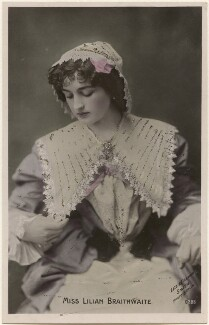 Dame (Florence) Lilian Braithwaite, by Lizzie Caswall Smith, published by  The Rotophot Postcard - NPG x200399
