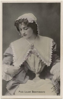 Dame (Florence) Lilian Braithwaite, by Lizzie Caswall Smith, published by  The Rotophot Postcard - NPG x200400