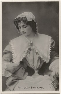 Dame (Florence) Lilian Braithwaite, by Lizzie Caswall Smith, published by  The Rotophot Postcard - NPG x200401