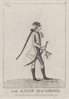 William John Kerr, 5th Marquess of Lothian ('The Lilly Macaroni'), published by and possibly after Mary Darly - NPG D48637