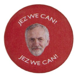 Jeremy Corbyn ('JEZ WE CAN!'), by Unknown artist - NPG D48056a
