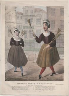 Lucia Elizabeth Vestris 'Madame Vestris' (née Bartolozzi, later Mathews); John Liston, by James Henry Lynch, printed and published by  Ingrey & Madeley - NPG D48639