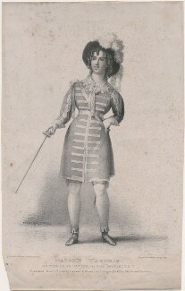 Madame Vestris as the page Victor in 'The Epaulette', printed and published by Ingrey & Madeley, after  Thomas Charles Wageman - NPG D48641