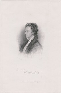 William Hazlitt, by Charles W. Marr, published by  John Templeman, after  William Bewick - NPG D48644