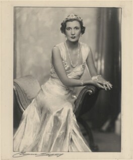 Priscilla Crystal Frances Blundell Coriat (née Weigall, formerly Viscountess Curzon), by Yvonne Gregory - NPG x199938