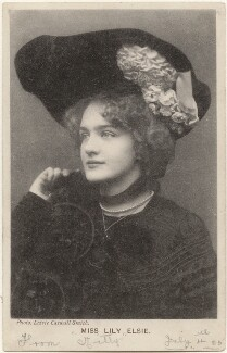 Lily Elsie, by Lizzie Caswall Smith, published by  Davidson Brothers - NPG x200456