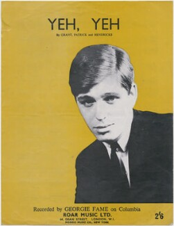 Sheet music cover for 'Yeh, Yeh' by Georgie Fame (Clive Powell), published by Roar Music Ltd, after  Unknown photographer - NPG D48396