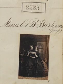 Constance Eliza Cornish (née Barham); Bertha Carlyon Vivian (née Barham), by Camille Silvy - NPG Ax58357