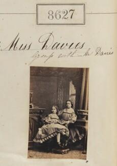Miss Davies; Miss Davies, by Camille Silvy - NPG Ax58450