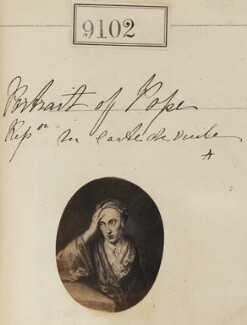 Alexander Pope ('Portrait of Pope. Reproduction for carte-de-visite'), by Camille Silvy - NPG Ax58924