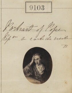Alexander Pope ('Portrait of Pope. Reproduction for carte-de-visite'), by Camille Silvy - NPG Ax58925
