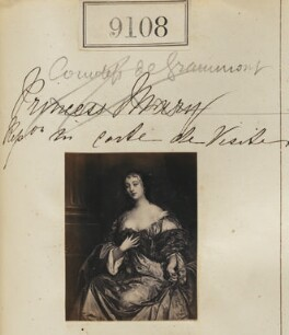 Elizabeth Hamilton, Countess de Gramont ('Countess de Grammont. Reproduction for carte-de-visite'), by Camille Silvy - NPG Ax58930