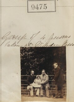 Group of 4 persons taken at Willesden Paddock, by Camille Silvy - NPG Ax59282