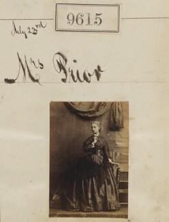 Mrs Prior, by Camille Silvy - NPG Ax59362