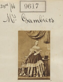 Mrs Gambiers, by Camille Silvy - NPG Ax59364