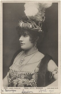Kitty Gordon, by Lizzie Caswall Smith, published by  Rotary Photographic Co Ltd - NPG x200466