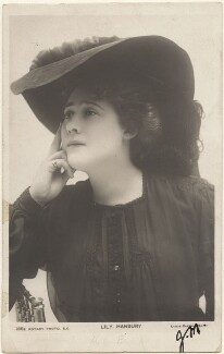 Lily Hanbury, by Lizzie Caswall Smith, published by  Rotary Photographic Co Ltd - NPG x200472