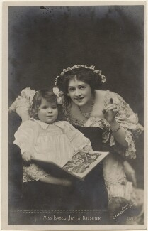 Isabel Jay and her daughter (Hon. Cecilia Claribel Anderson (née Cavendish)), by Lizzie Caswall Smith, published by  The Rotophot Postcard - NPG x200481