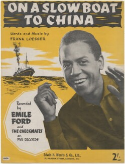 Sheet music cover for 'On a Slow Boat to China' by Emile Ford and the Checkmates, published by Edwin H. Morris & Co Ltd, after  Unknown photographer - NPG D48402