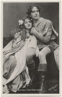 Nora Kerin and Basil Gill in 'The Tempest', by Lizzie Caswall Smith, published by  The Rotophot Postcard - NPG x200486