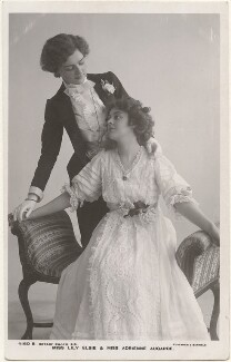 Lily Elsie and Adrienne Augarde, by Foulsham & Banfield, published by  Rotary Photographic Co Ltd - NPG x201056
