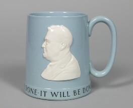 Franklin D. Roosevelt, by Arnold Machin, for  Wedgwood and Bentley - NPG D48653