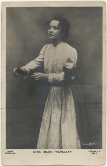 Hilda Trevelyan (Hilda Marie Antoinette Anna Tucker), by Lizzie Caswall Smith, published by  Rapid Photo Co - NPG x200520