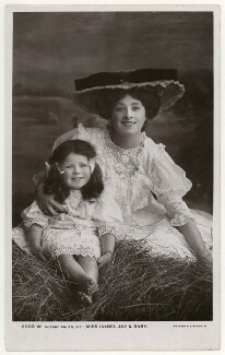 'Isabel Jay & Baby' (Isabel Jay; Hon. Cecilia Claribel Anderson (née Cavendish)), by Foulsham & Banfield, published by  Rotary Photographic Co Ltd - NPG x201154