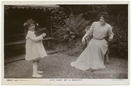 'Isabel Jay & Daughter' (Isabel Jay; Hon. Cecilia Claribel Anderson (née Cavendish)), by Foulsham & Banfield, published by  Rotary Photographic Co Ltd - NPG x201158