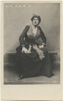 Violet Vanbrugh (Violet Augusta Mary Barnes) in 'The Arm of the Law', by Lizzie Caswall Smith, published by  Rapid Photo Co - NPG x200522