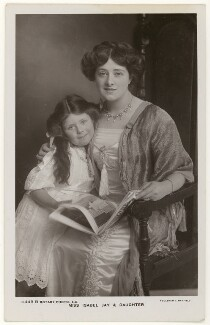 'Isabel Jay & Daughter' (Isabel Jay; Hon. Cecilia Claribel Anderson (née Cavendish)), by Foulsham & Banfield, published by  Rotary Photographic Co Ltd - NPG x201161
