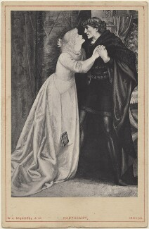 Ellen Terry and Sir Henry Irving as Ophelia and Hamlet, published by William Axon Mansell & Co, after  Edward H. Bell - NPG D48658